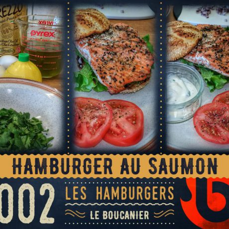 Hamburger au saumon de l'ouest